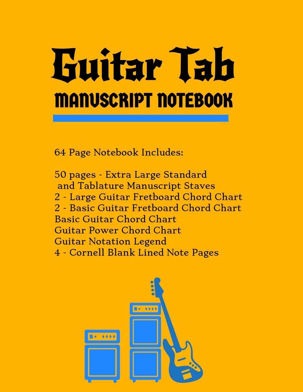 Guitar Tab Manuscript Notebook: Extra Large Standard & Tablature ...