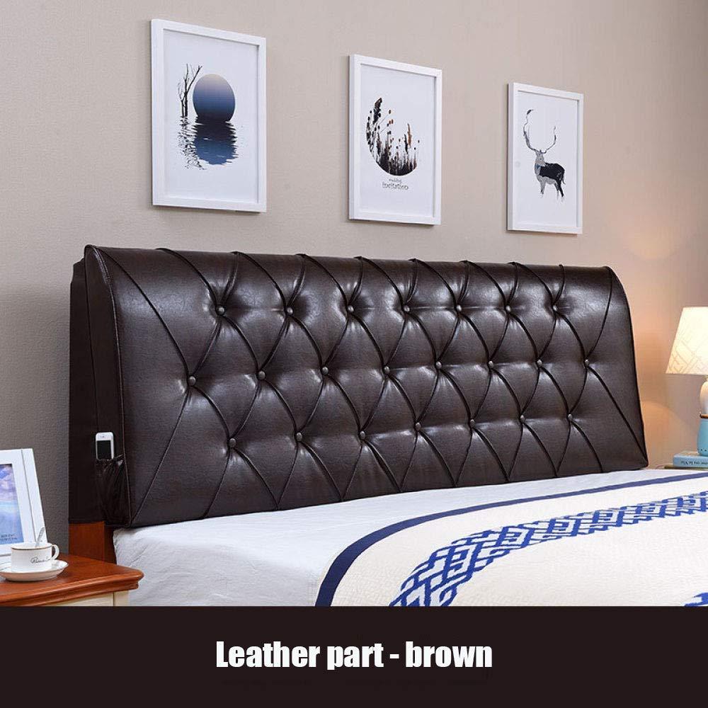ZGYQGOO Qualitätskunstleder Gepolsterte Kopfteil Kopfteil Kissen Sofa Große Doppelbetten Zurück Haushalt(ohne Kopfteil), C-200 * 60 * 10 cm