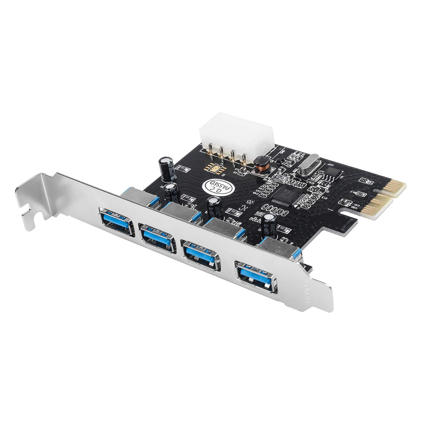 Semlos 4 Port USB 3.0 to PCI Express Card Expansion Card PCI-E to USB 3.0 Hub Controller Adapter