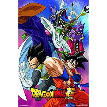 Amazon Com Dragon Ball Super Wall Scroll Poster 12 X 16