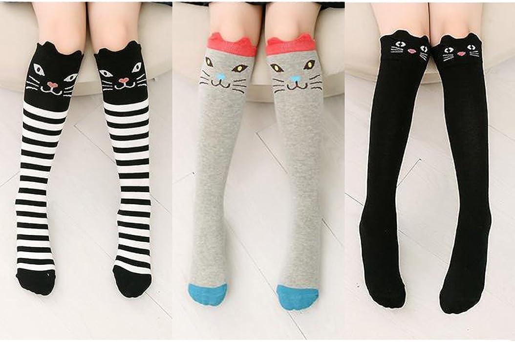 a87029cd8b Children Girls Socks Tube Dresses Fashional Cartoon Animation Knee High  Stockings (Set of 3) (Animal-Set1)  Amazon.ca  Clothing   Accessories