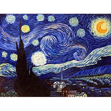 Art Reproduction Oil Painting - Van Gogh Paintings: Starry Night - Extra Large 30  X 40  - Hand Painted Canvas Art