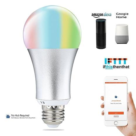 COOSA Lampadina Intelligente LED, Lampadina Wifi, E27, 6W, Lampadina RGB +  Bianco