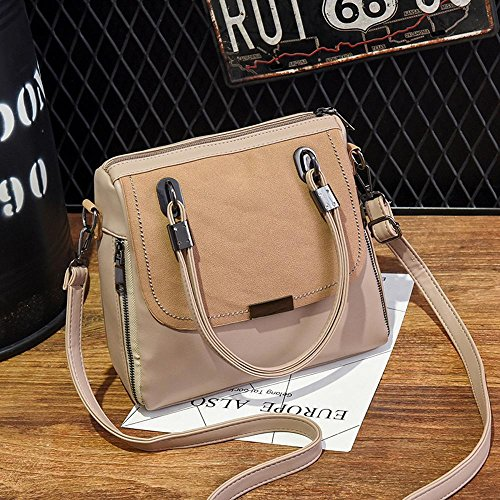 Aoligei Women Fashion Bag Soft Bag Packs Solid Color Face Oblique Cross Shoulder Bag Lady And