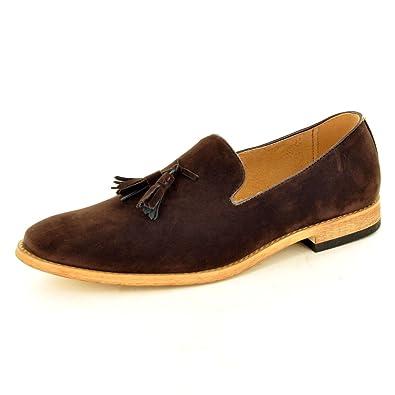 Herren-Loafer mit Quasten aus Wildleder, Lederfutter, Braun - braun - Größe  101ab15eaf