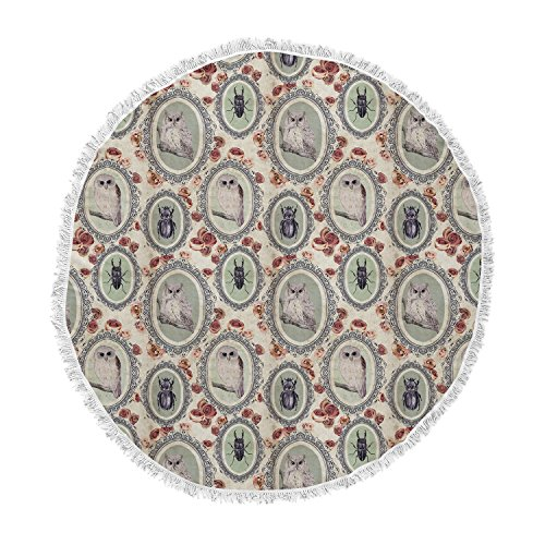 KESS InHouse Dlkg Design Camafeu Gray Beetles Round Beach Towel Blanket
