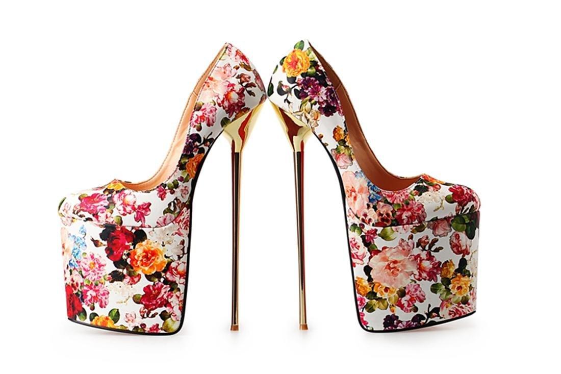 NVXIE Damen Neues Sexy Stiletto High Metal Heel Schuhe Schuhe Schuhe Flacher Mund Wasserdicht Künstliche PU Schwarz Rot Herbst Frühling Sommer Nachtclub Prom Dressy 5b057d
