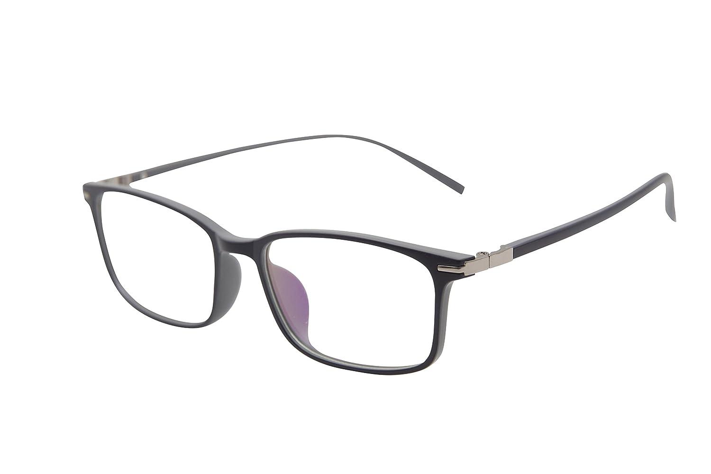 XYAS Square Front Clear lens Unisex(Women/Men) Reading glasses Normal needs super light Fashion Clear lens