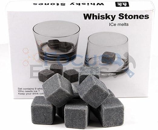 Bag 9pcs Whiskey Whisky Scotch Soapstone Cold Granite Stone Ice Cubes Rocks