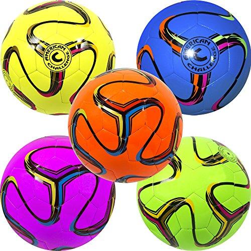 Rainbow Soccer Ball - American Challenge Brasilia Soccer Ball (Blueberry, 4)