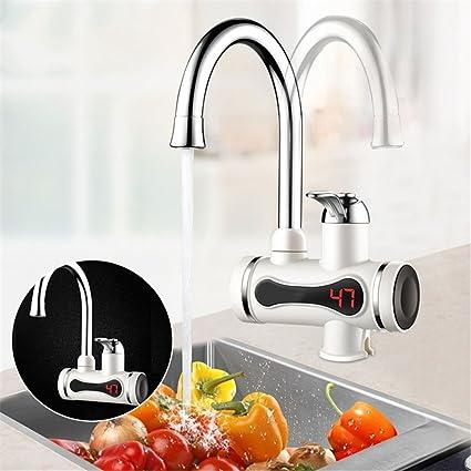 KLYBFN Cocina Calentador de agua sin tanque eléctrico Grifo de calentamiento instantáneo Calentador de agua instantáneo