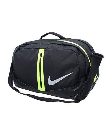 8dca4e6334e1 Nike Run Duffel Bag 34L-Black Volt   Silver  Amazon.in  Bags ...