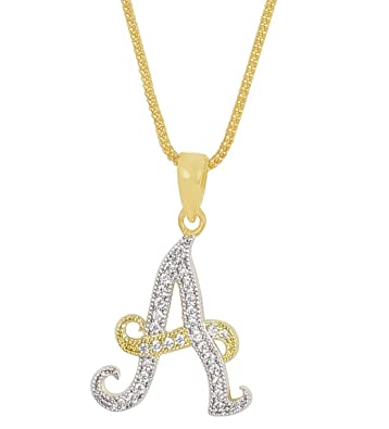 Buy much more gold plated imitation alphabet a pendant set for much more gold plated imitation alphabet quotaquot pendant set for lovers jewellery audiocablefo