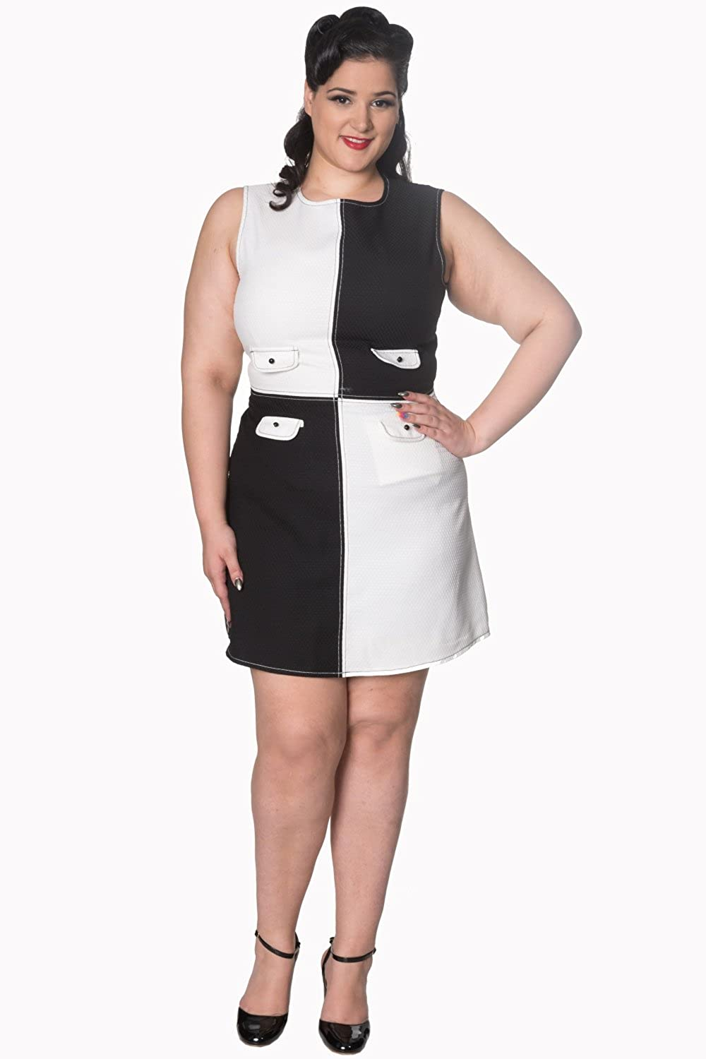 1960s Mad Men Dresses and Clothing Styles Banned Dylan Vintage Retro Plus Size Dress $57.39 AT vintagedancer.com