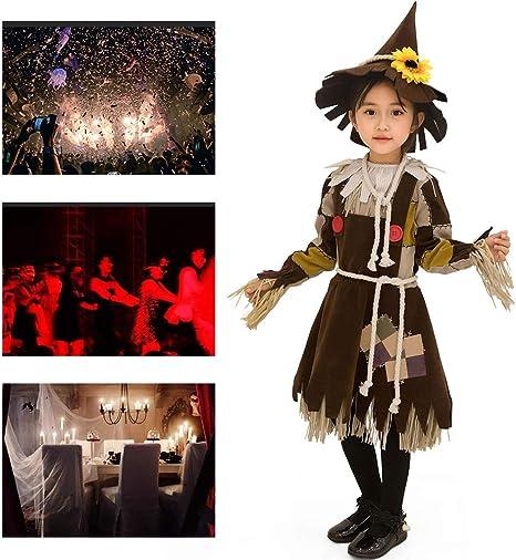 JH&MM Disfraz De Halloween Niña Vestido De Espantapájaros Pequeño ...