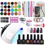 Coscelia 5 Colors Gel Nail Polish 10ml Starter Kit 24W LED Nail Dryer - Best Reviews Guide