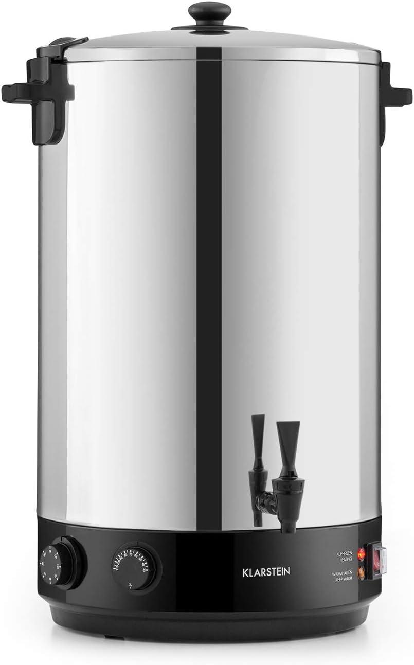 Klarstein KonfiStar 50 olla para confituras - caldera de cocción, Termo para bebidas, 50 litros, 30-110 °C, Programable 20-120 min, Conserva la temperatura, Sabor genuino, Acero inoxidable
