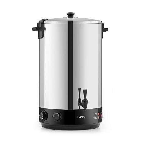 Klarstein KonfiStar 50 olla para confituras - caldera de cocción, Termo para bebidas, 50 litros, 30-110 °C, Programable 20-120 min, Conserva la ...