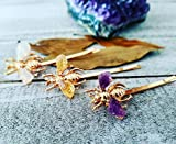 Spring bobby pin | Bee hair pin | honey bee hair accessories | gold insect hair jewelry