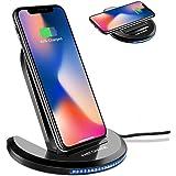ChargeursansFil,ELEGIANT Chargeur à Induction Pliable Station de Rechargement Rapide pour IPhone 8 /8plus /X Samsung Galaxy S8 /S8 plus /S7 /S7 EdgeetAutresCompatiblesavecQi
