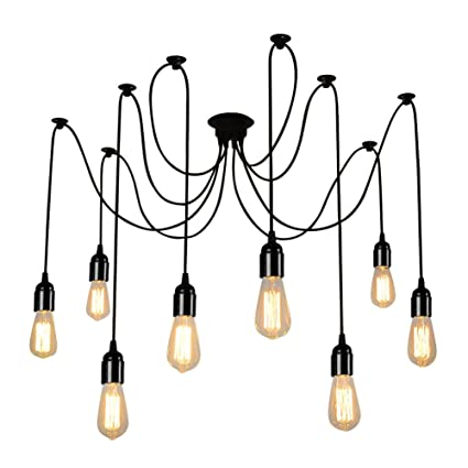 In Quality Nice Mordern Nordic Romantic Led Bulb Light Simple Pendant Lights Vintage Loft Creating E27 Art Spider Ceiling Lamp Fixture Light Excellent