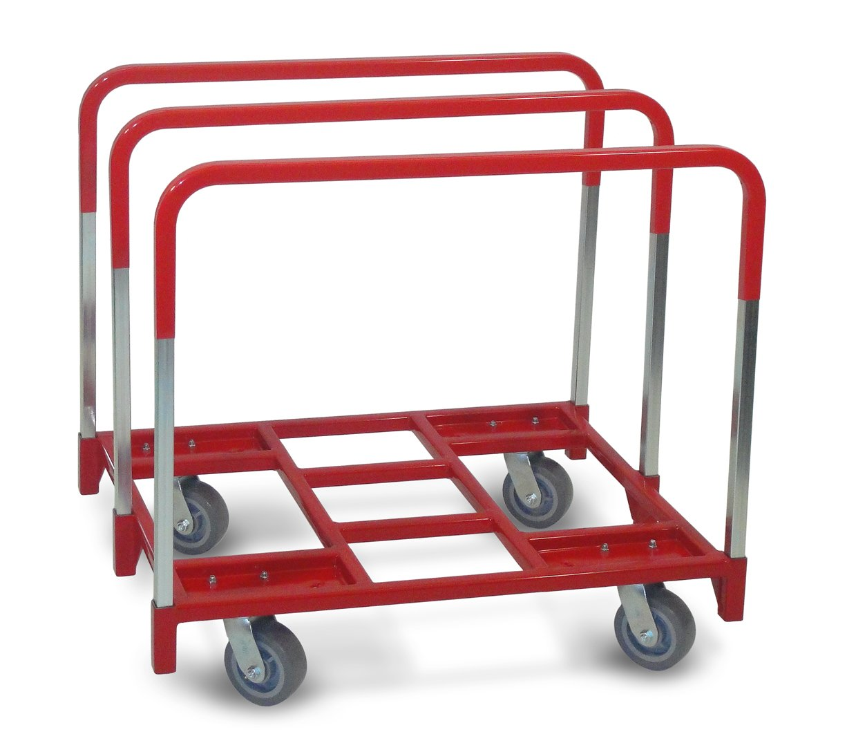 Raymond 3850 Steel Panel Mover with 3 Standard Upright and 5 x 2 Phenolic Casters 2400 lbs Capacity 41 Length x 32 Width x 9 Height