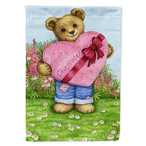 - Caroline's Treasures CDCO318ACHF Valentine Teddy Bear with Chocolates Flag Canvas House, Large, Multicolor