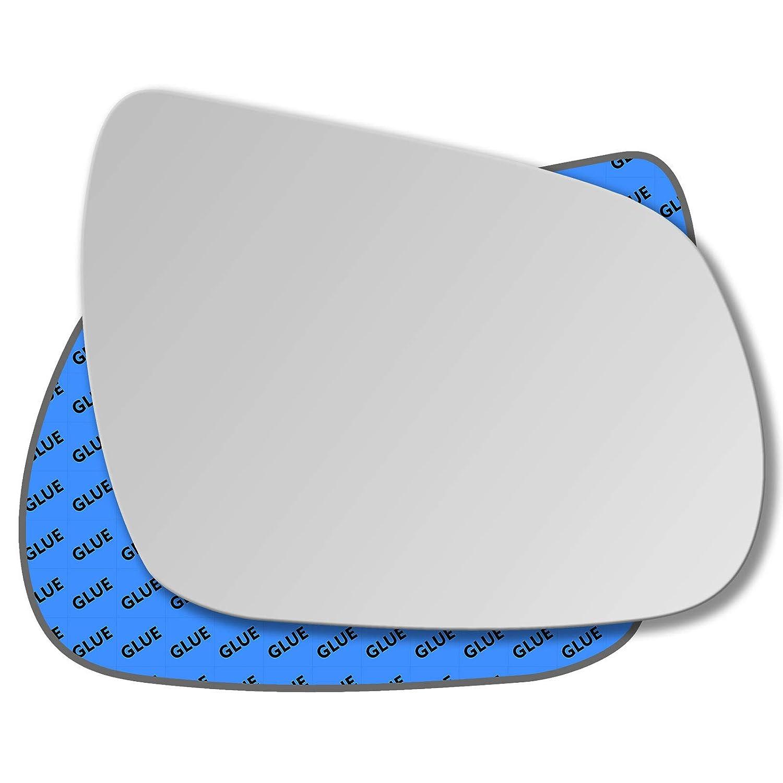 Hightecpl 536RS Espejo retrovisor convexo para puerta derecha del lado del chofer