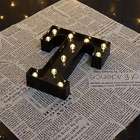 1 luz LED negra con alfabeto y letras operadoras con pilas LED para decoraci/ón de recepciones de boda Doitsa fiesta fiesta de cumplea/ños casa de vacaciones bares