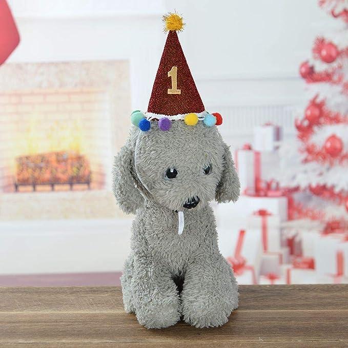 Handfly - Gorro de cumpleaños para Mascotas de 1 y 2 años ...