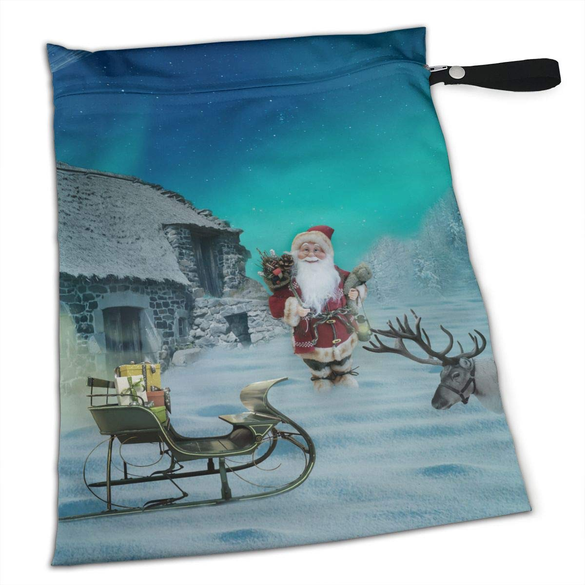 Astonishing Amazon Com Cute Christmas Santa And Reindeers Home Cottage Squirreltailoven Fun Painted Chair Ideas Images Squirreltailovenorg