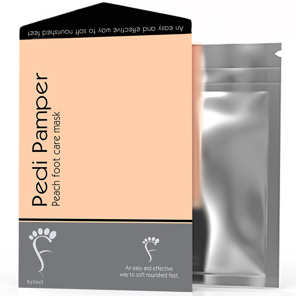 Baby Foot Peel Peach Moisturizing socks - Intensive & Ultra repairing foot mask for Dry feet, Single Pack (1-Pack)