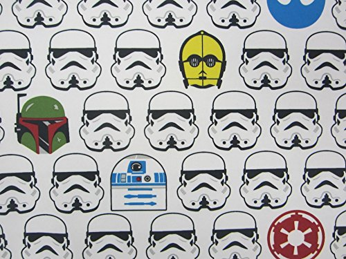 Star Wars Classic Stormtrooper R2-D2 C-3PO 100% Polyester (FLAT SHEET ONLY) Size TWIN Boys Girls Kids Bedding