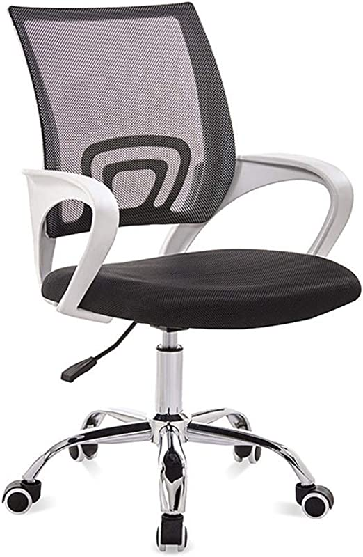 Office Mesh Chair Grey Computer Desk Adjustable Height 360° Swivel Lift Quality