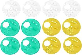 Caredy Porte en Nid D'Abeilles, Paquet De 12 PièCes en Plastique Porte D'EntréE en Nid d'abeille Disque d'abeille Rond