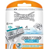 Wilkinson Sword Quattro Titanium Klingen, 8 Stück