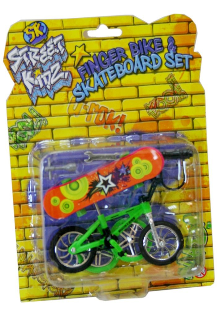 STREET KIDZ Finger BMX Bike and Skateboard Set [Toy] KT TY6424