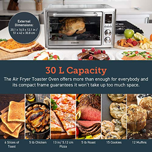 COSORI CO130-AO Air Fryer Toaster Oven image 4