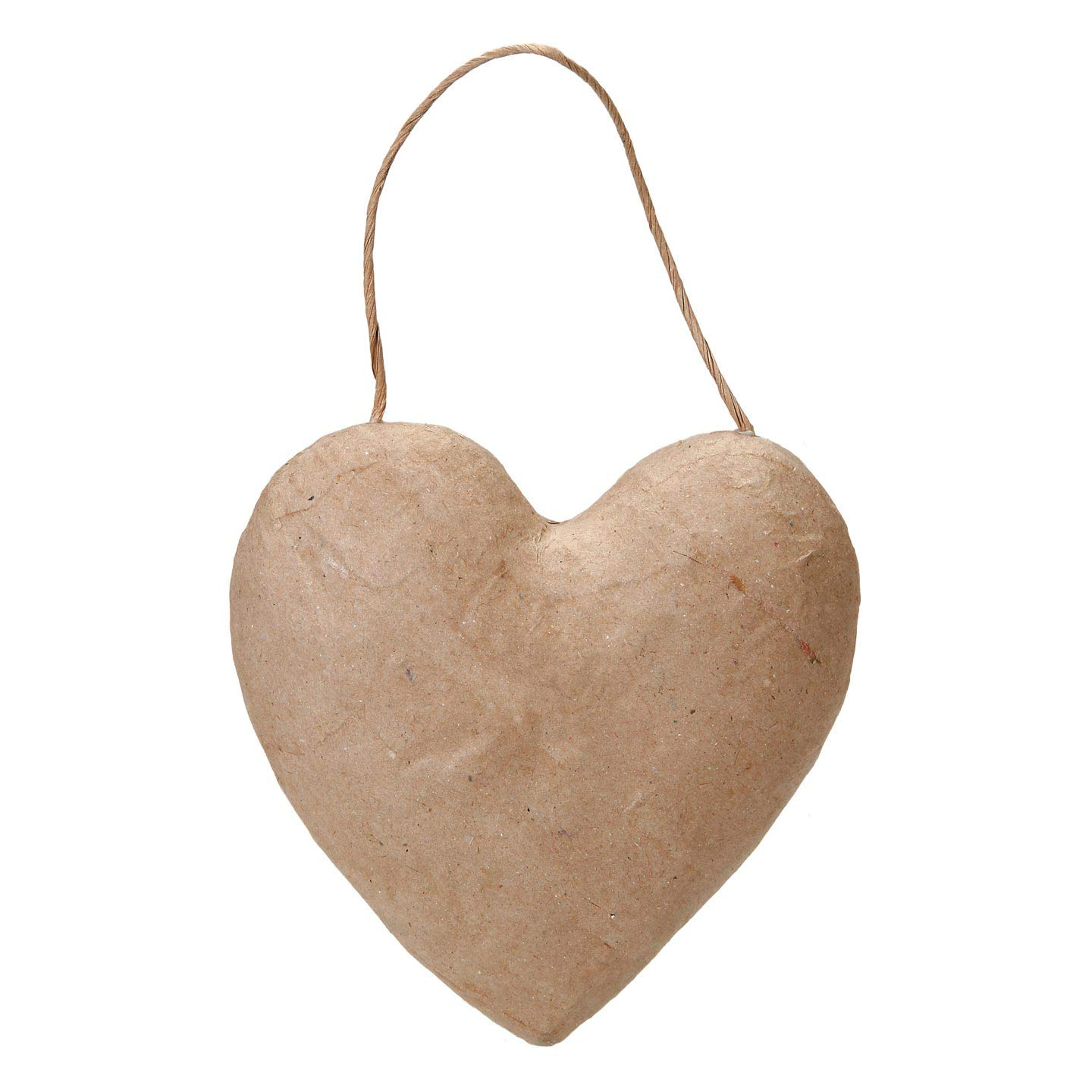 Bulk Buy: Darice DIY Crafts Paper Mache Puffy Heart with String 5-1/2 inches (3-Pack) 2833-44 Inc.