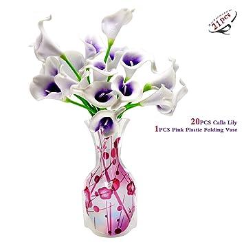 Amazon De Iriesure 20pcs Calla Lilie 1pcs Rosa Kunststoff