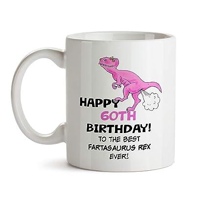 60th Birthday Dinosaur Gift Mug