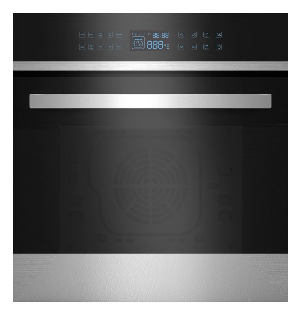 Empava 24'' Electric Convection Single Wall Oven 9 Cooking Functions with Touch Control in Stainless Steel EMPV-24WOB21, 24 Inch by Empava
