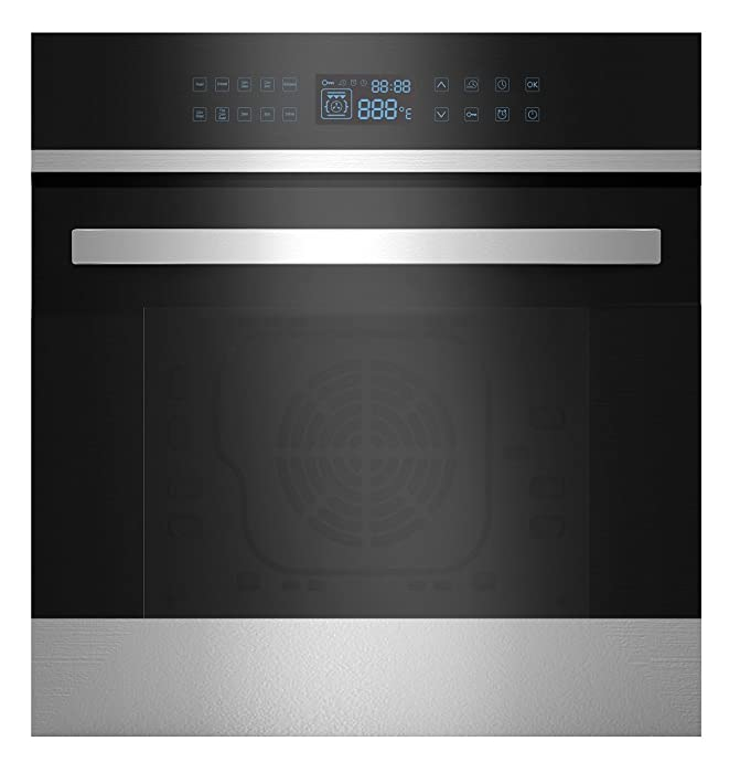 """Empava 24"""" Black Tempered Glass Led Digital Touch Controls Electric Built-In Single Wall OvenEMPV-24WOB21"""