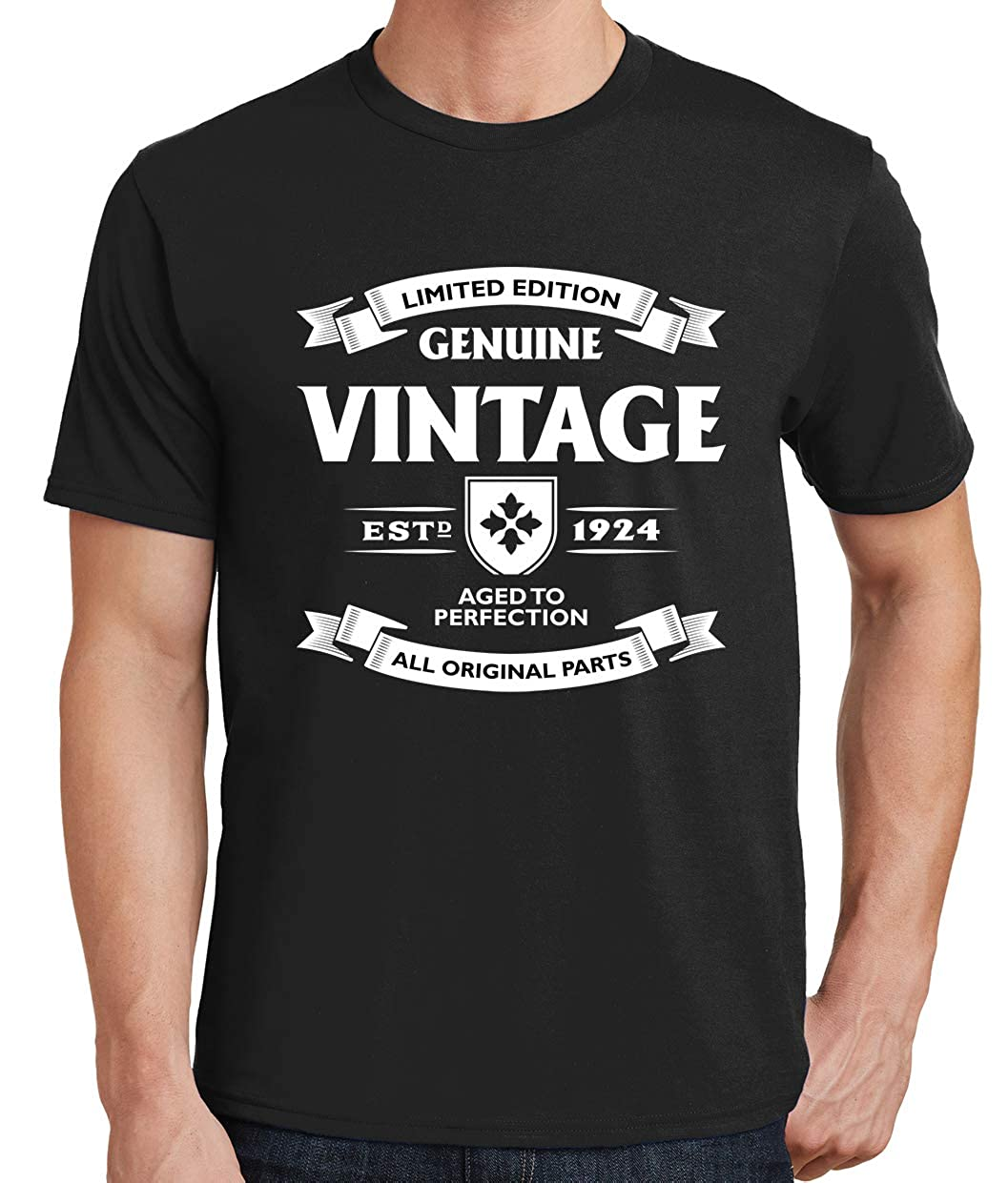 Tenacitee Mens Aged to Perfection 1924 T-Shirt