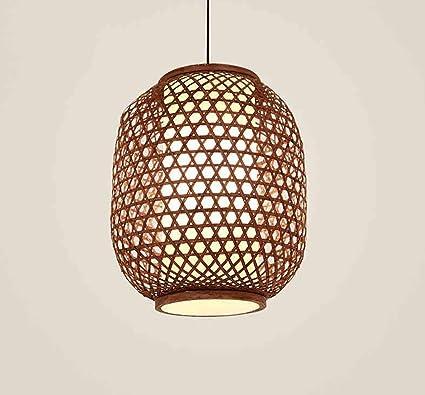 POPAHOME Candelabro Estilo Chino lámpara de Techo de bambú ...