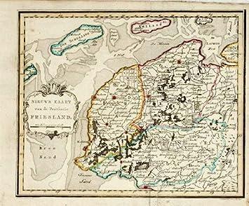 Amazon De Theprintscollector Antik Karte Friesland Friesland
