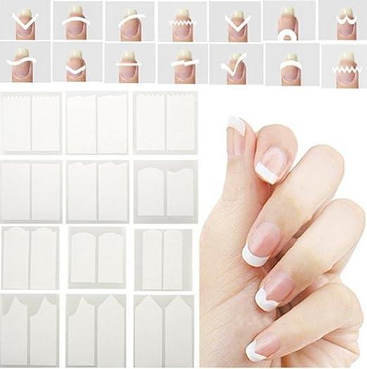 10 opinioni per Hosaire 24pcs bianco del della striatura Linea sticker nail art,24 forme