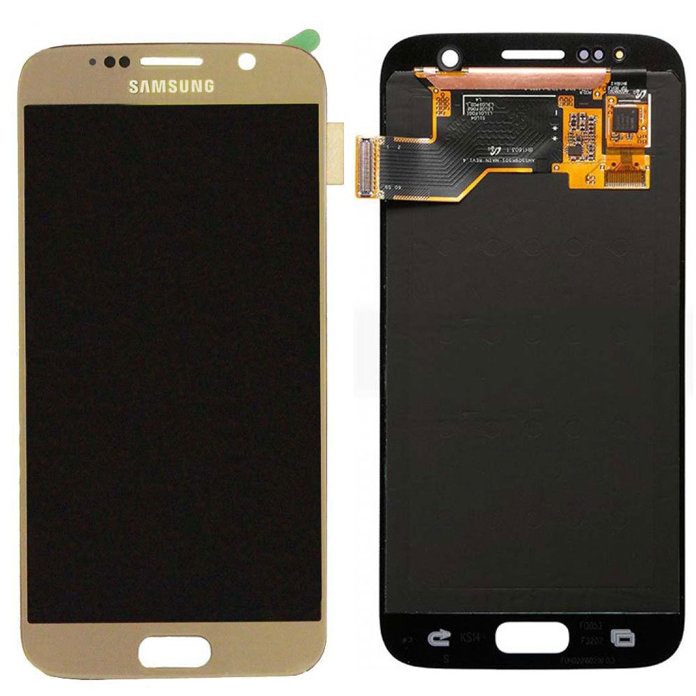 Touch Screen Digitizer and LCD for Samsung Galaxy S7 - Gold Platinum