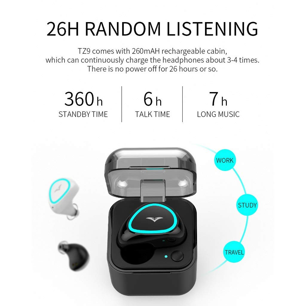 Amazon.com: Makekk Bluetooth Headset Wireless Invisible Sports Running Micro-Small Earplugs Long Standby in-Ear Driving for Unisex Can Answer The Phone ...