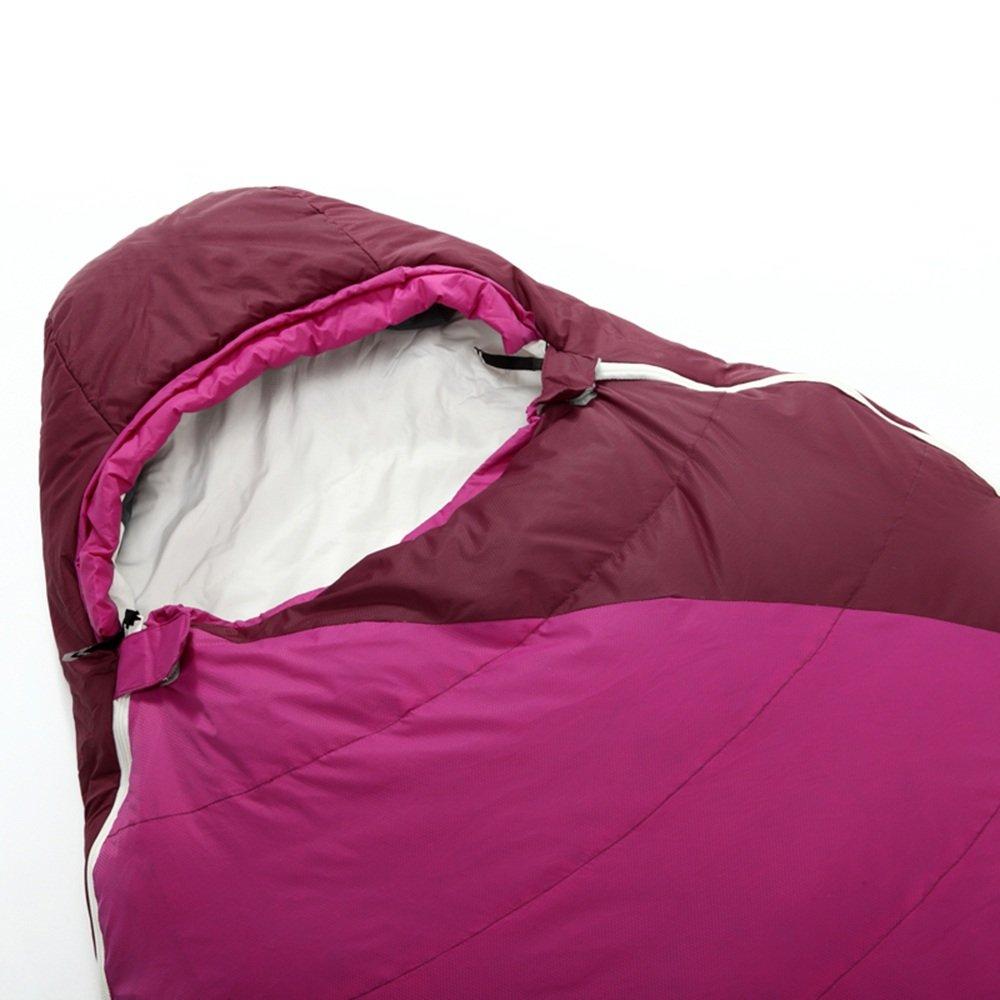 QFFL shuidai Mama Schlafsack Baumwolle   Licht Portable Outdoor Camping Wandern ideal für 4 Saison Schlafsack mit Kompressionsbeutel 220  80 (55) cm